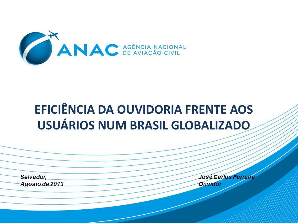 GLOBALIZAÇÃO E OUVIDORIA IMPACTOS NO BRASIL 100 MILHÕES DE CONSUMIDORES ENTRE 2002 E 2012 COMERCIO EXTERIOR QUADRULICOU DOBROU MOVIMENTO NOS AEROPORTOS DOBROU TRANSITO NAS RODOVIAS DOBROU LICENCIAMENTO DE VEÍCULOS TRIPLICOU ASSINANTES CELULARES EM SEIS ANOS QUADRUPLICOU NÚMERO DE TV POR ASSINATURA TRIPLICOU CONEXÕES DE INTERNET USO CARTÕES DE CREDITO PASSOU DE 22 PARA 62%, E DE CHEQUES DIMINUIU DE 62% PARA 15% VOLUME DE CRÉDITO AUMENTO 212% NA ÚLTIMA DÉCADA