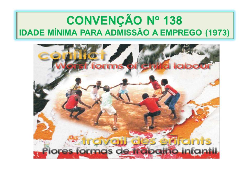 CONVENÇÃO Nº 138 IDADE MÍNIMA PARA ADMISSÃO A EMPREGO (1973)