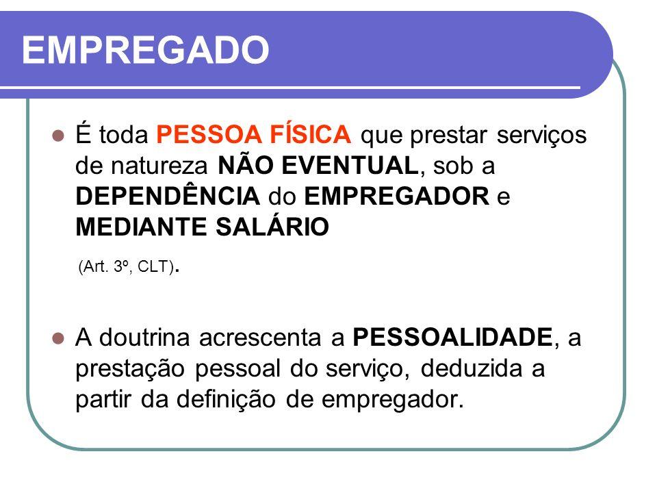 POR PRAZO DETERMINADO O contrato por prazo determinado SÓ será VÁLIDO em se tratando (Art.