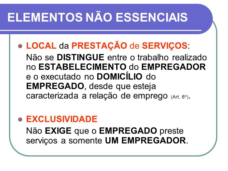 OBSERVAÇÃO A CLT NÃO SE APLICA aos seguintes empregados (Art.