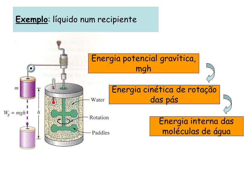 Sistema termodinâmico Uma certa porção de matéria, que pretendemos estudar, suficientemente extensa para poder ser descrita por parâmetros macroscópicos.