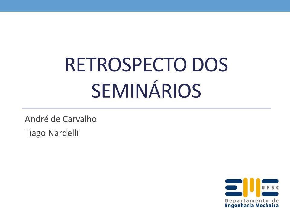 RETROSPECTO DOS SEMINÁRIOS André de Carvalho Tiago Nardelli