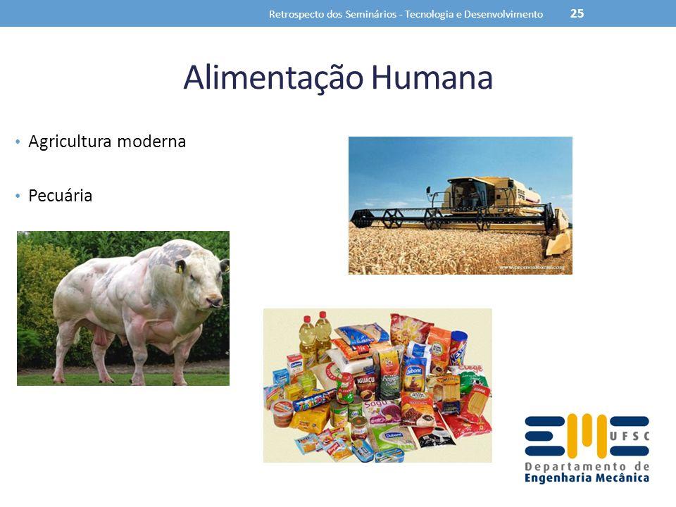 Alimentação Humana Agricultura moderna Pecuária Retrospecto dos Seminários - Tecnologia e Desenvolvimento 25