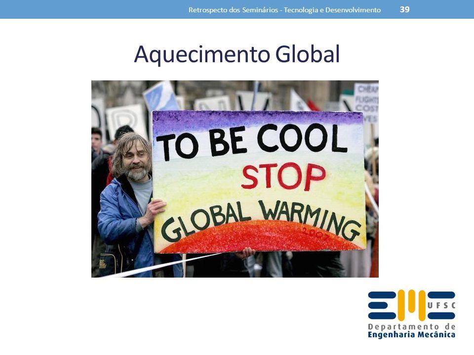 Aquecimento Global Retrospecto dos Seminários - Tecnologia e Desenvolvimento 39
