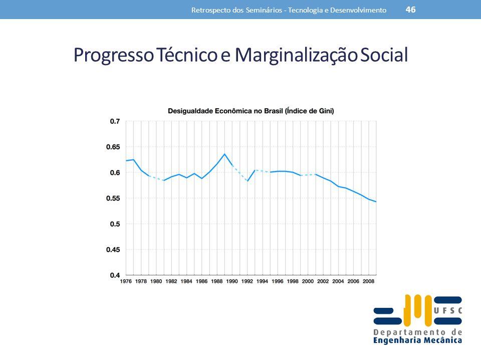 Progresso Técnico e Marginalização Social Retrospecto dos Seminários - Tecnologia e Desenvolvimento 46