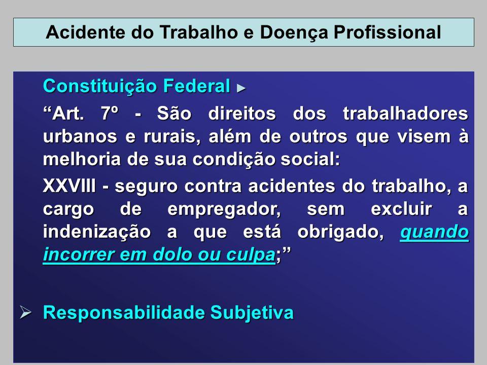 Constituição Federal Constituição Federal Art. 7º - São direitos dos trabalhadores urbanos e rurais, além de outros que visem à melhoria de sua condiç