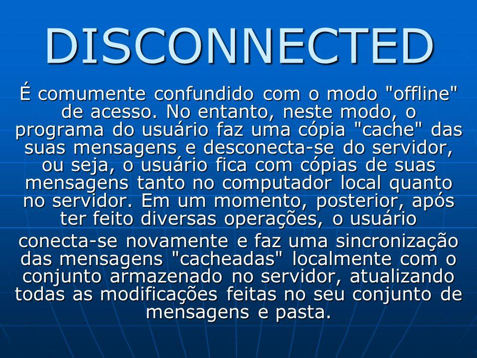 DISCONNECTED É comumente confundido com o modo