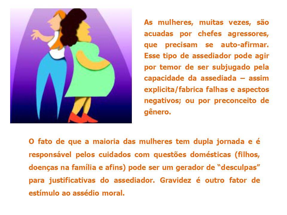 O fato de que a maioria das mulheres tem dupla jornada e é responsável pelos cuidados com questões domésticas (filhos, doenças na família e afins) pod