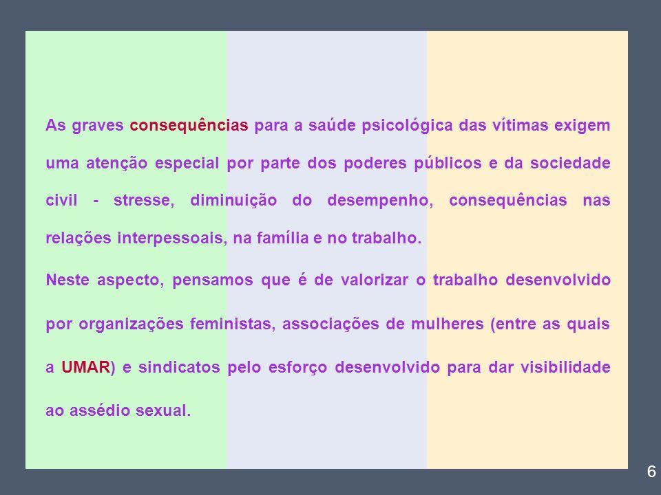 A investigação sobre assédio sexual, em Portugal, é muito escassa.