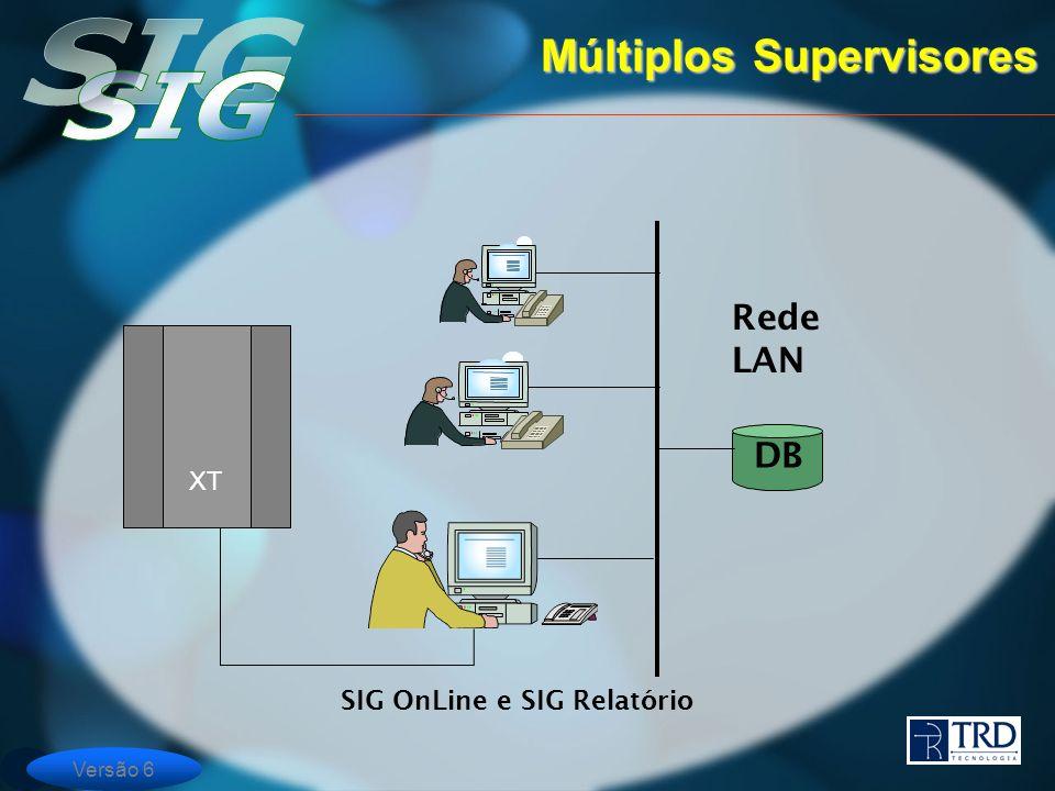 Versão 6 Rede LAN DB SIG OnLine e SIG Relatório Múltiplos Supervisores XT