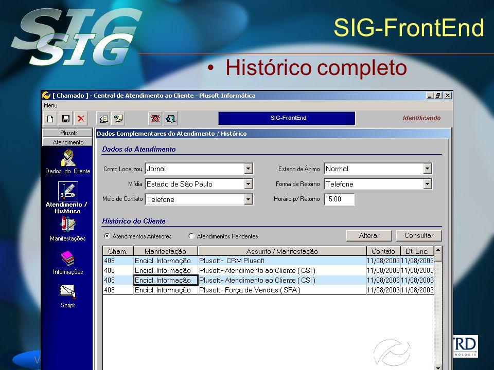 Versão 6 SIG-FrontEnd Histórico completo SIG-FrontEnd