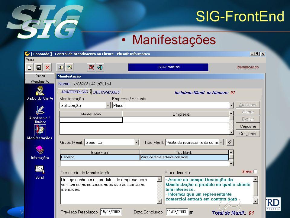 Versão 6 SIG-FrontEnd Manifestações SIG-FrontEnd