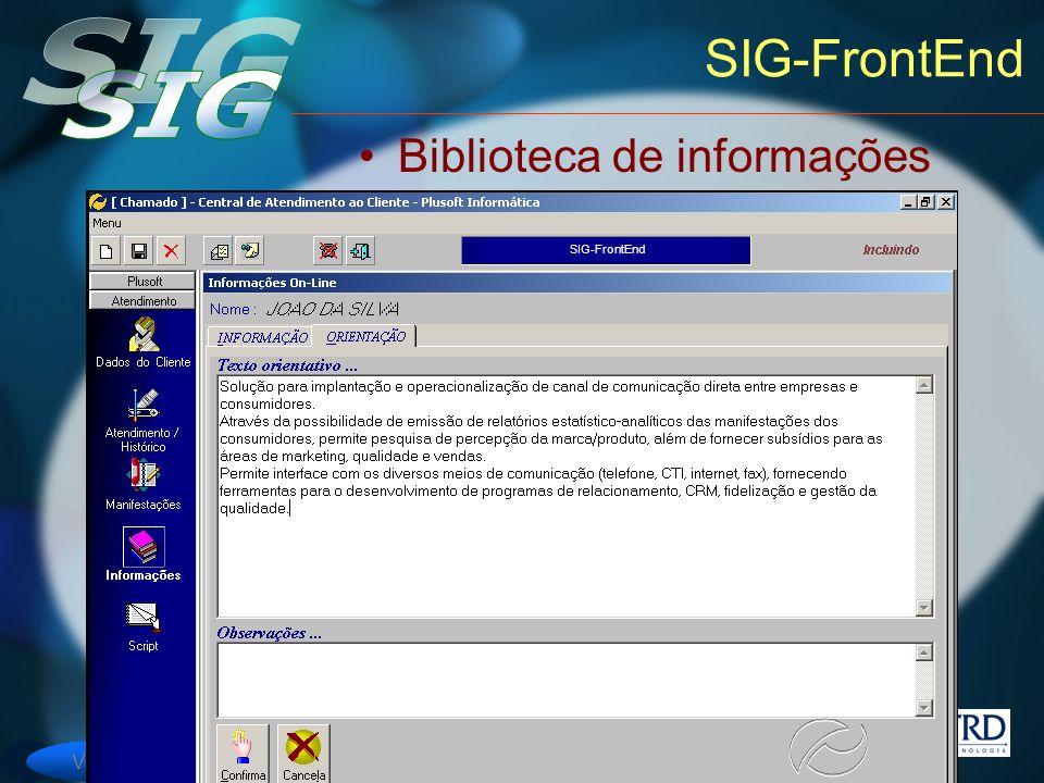 Versão 6 SIG-FrontEnd Biblioteca de informações SIG-FrontEnd