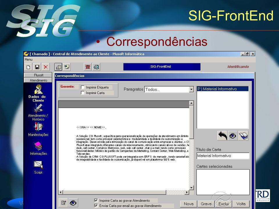 Versão 6 SIG-FrontEnd Correspondências SIG-FrontEnd