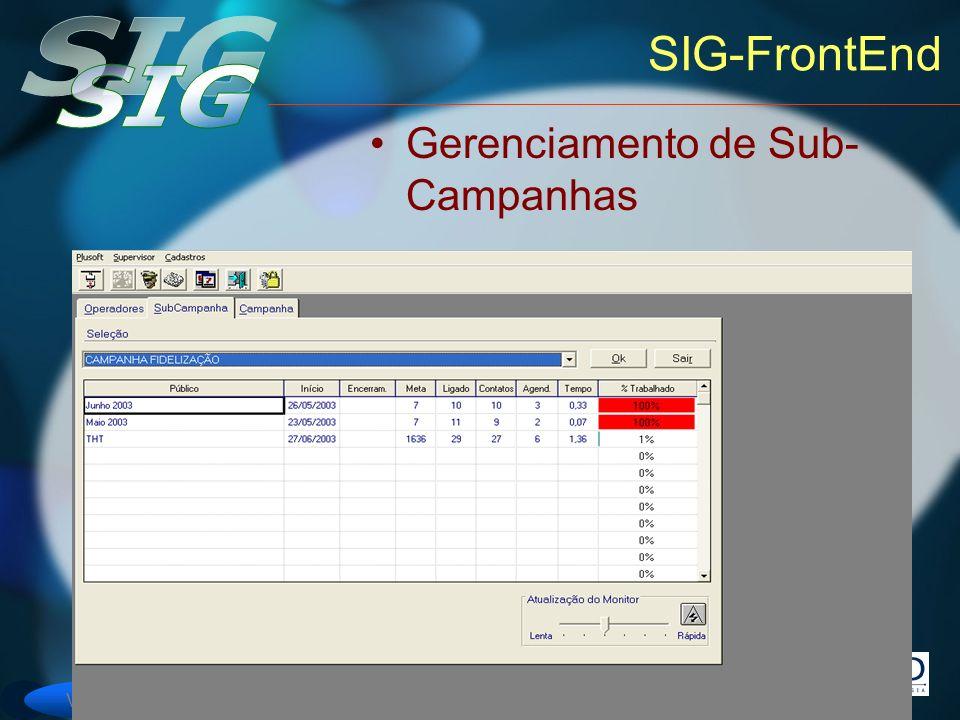 Versão 6 SIG-FrontEnd Gerenciamento de Sub- Campanhas