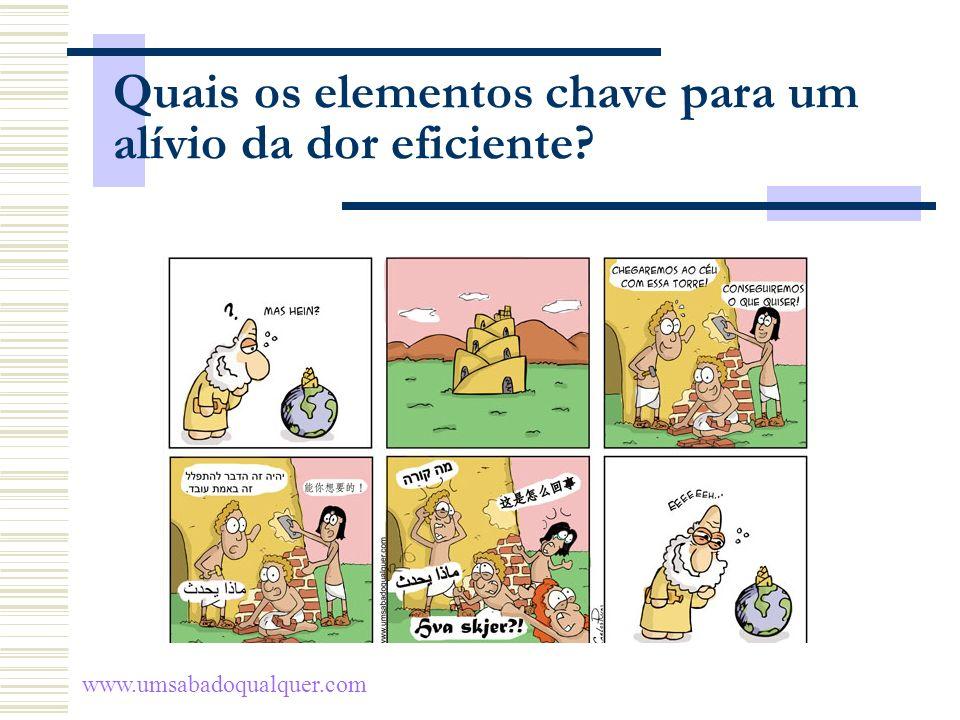 Quais os elementos chave para um alívio da dor eficiente? www.umsabadoqualquer.com