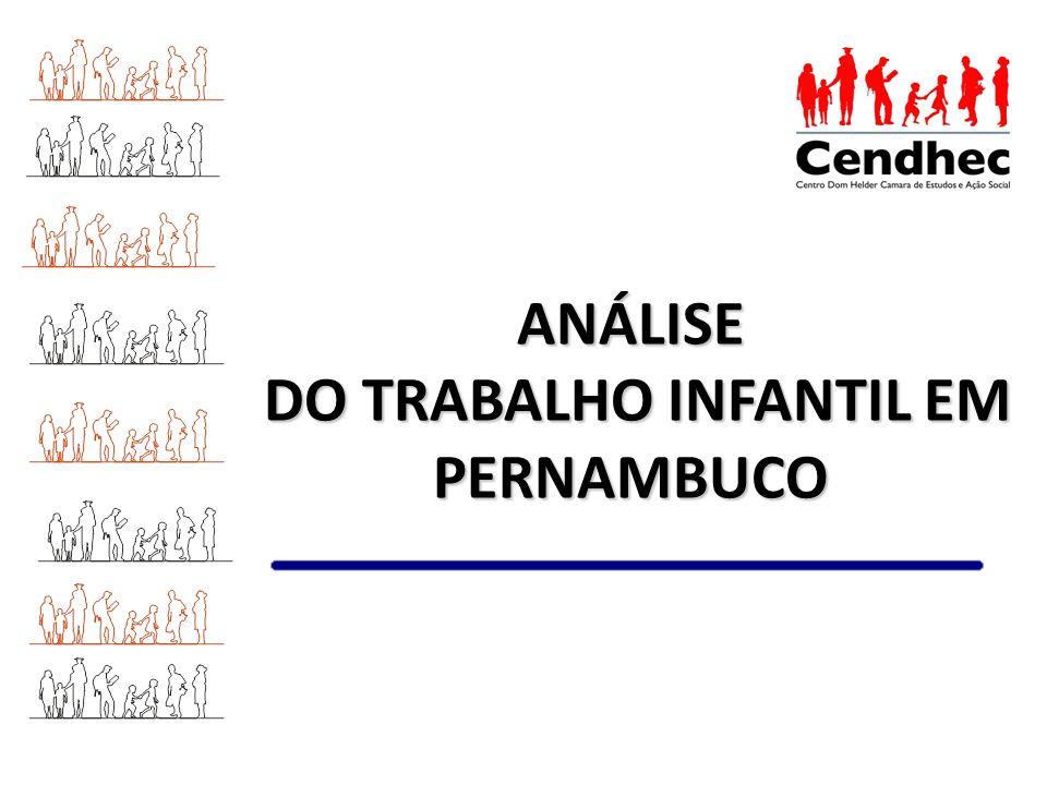 ANÁLISE DO TRABALHO INFANTIL EM PERNAMBUCO