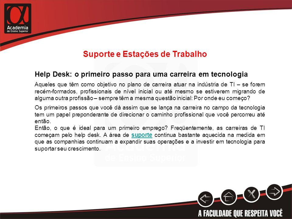 Suporte e Estações de Trabalho Além disso, o lançamento de novos sistemas e produtos nunca pára.