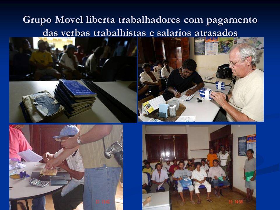 Grupo Movel liberta trabalhadores com pagamento das verbas trabalhistas e salarios atrasados