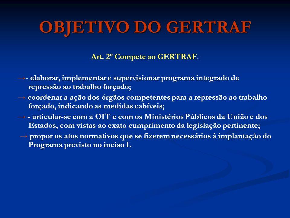 OBJETIVO DO GERTRAF Art.