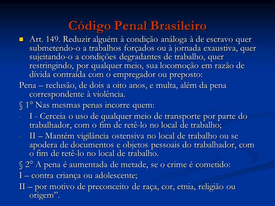 Código Penal Brasileiro Art.149.