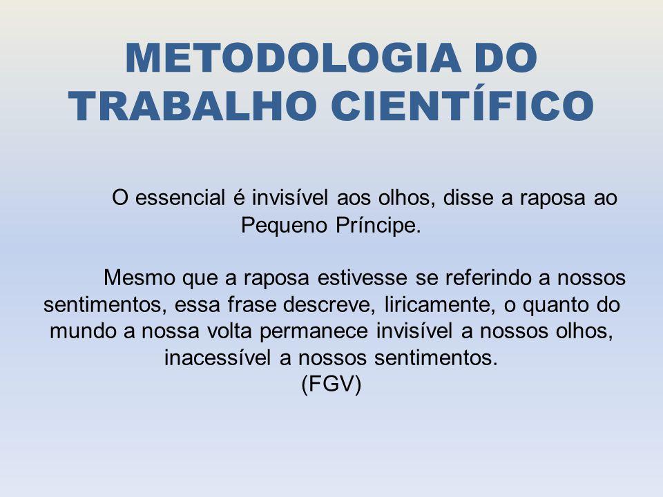 METODOLOGIA DO TRABALHO CIENTÍFICO METODOLOGIA CIENTÍFICA E UNIVERSIDADE Ciência conquista gradual Desenvolveu-se basicamente no século XIX.