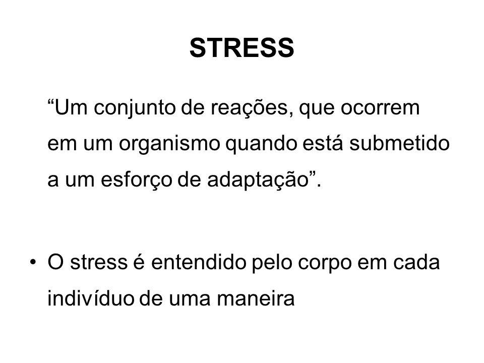 FASES DO STRESS 1ª FASE DE ALARME 2ª FASE DE RESISTÊNCIA 3ª FASE DE EXAUSTÃO