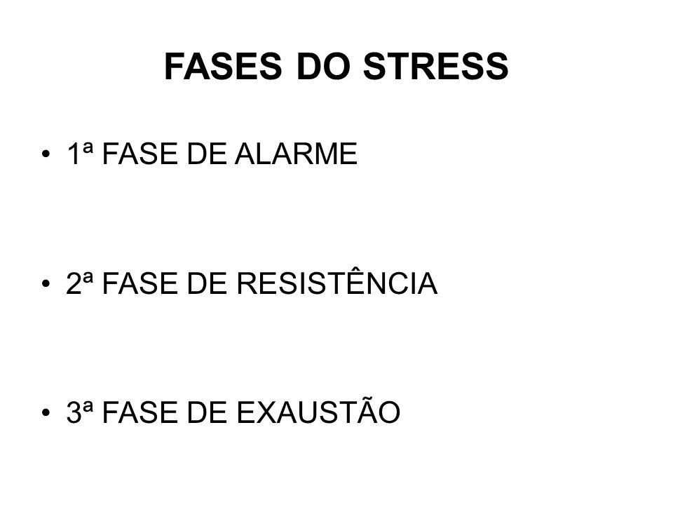 TIPOS DE STRESS EUTRESS Considerado stress positivo DISTRESS Conhecido como próprio stress