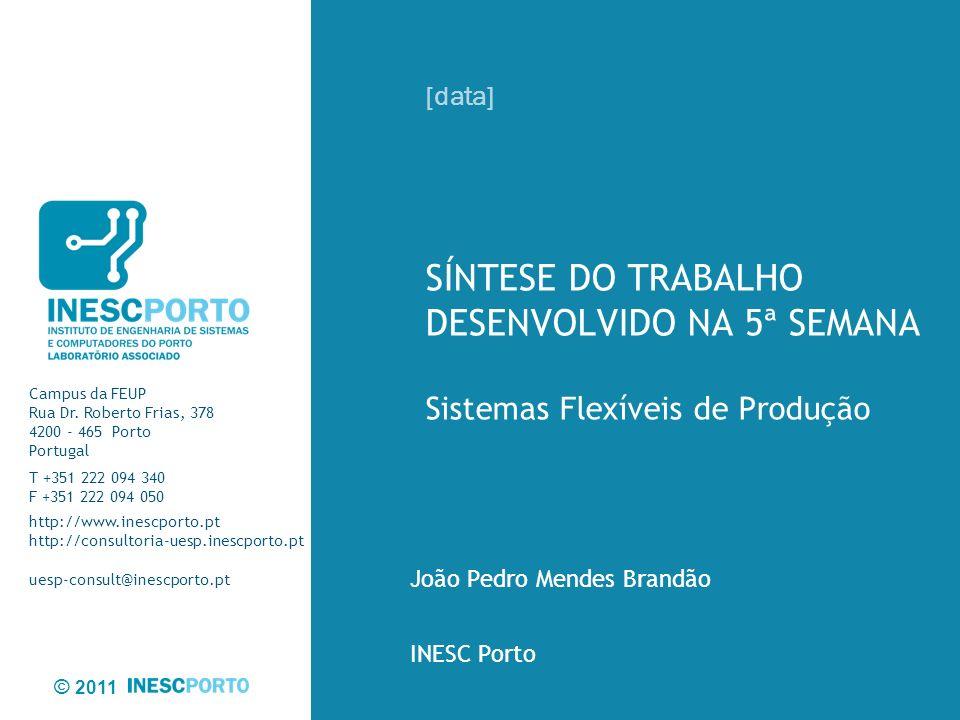 © 2011 2Sistemas Flexíveis de Produção/ Semanário da 5ª Semana / [17/4/2012] Sumário Executivo Bibliografia analisada Conclusões Trabalho Futuro Agenda