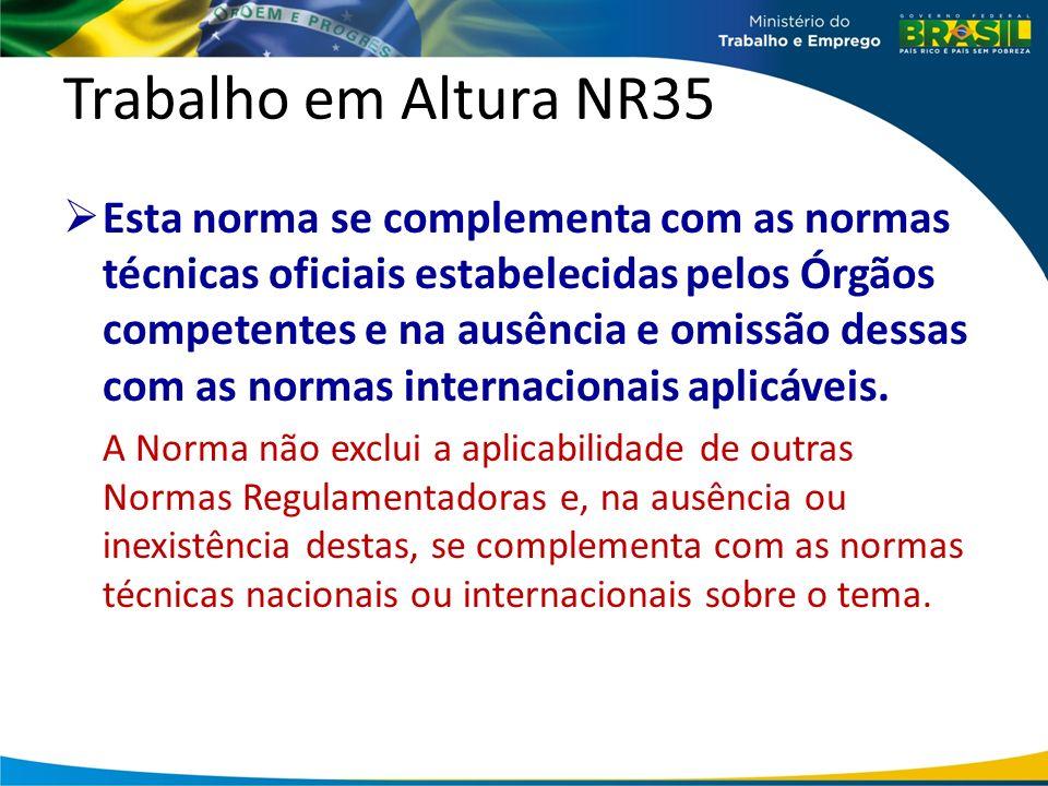 NR35 Execução Todo trabalho em altura deve ser precedido de Análise de Risco.