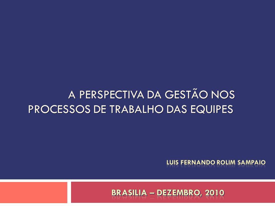A PERSPECTIVA DA GESTÃO NOS PROCESSOS DE TRABALHO DAS EQUIPES