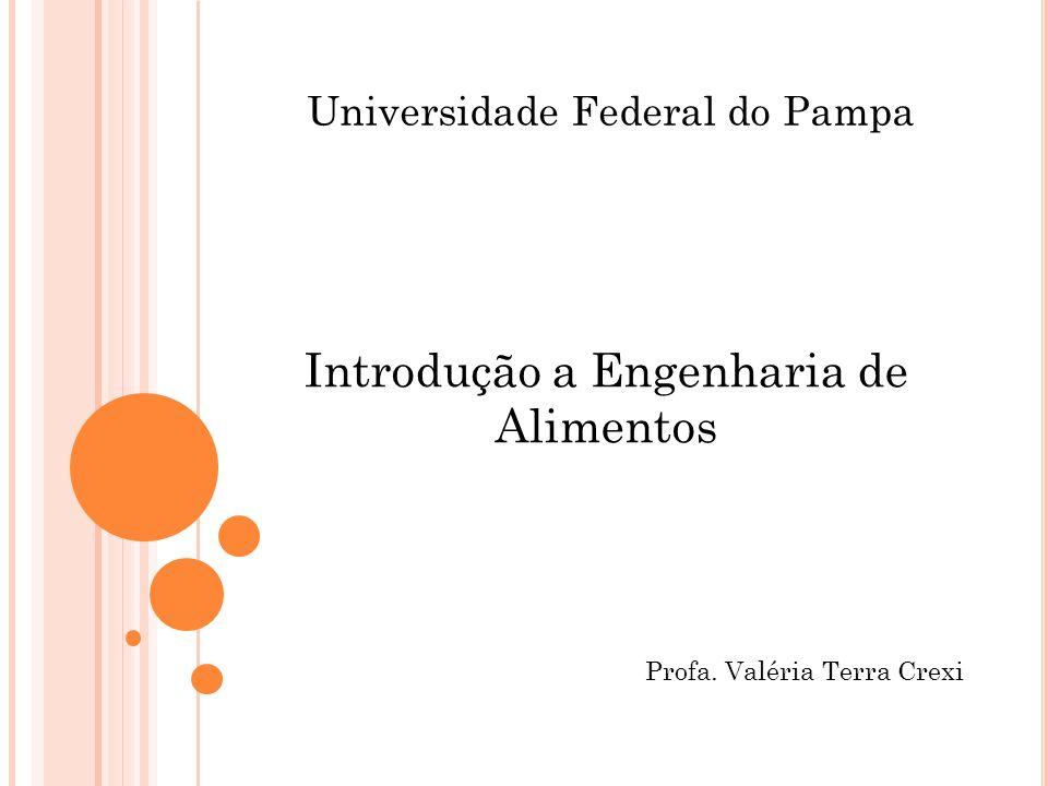 Universidade Federal do Pampa Introdução a Engenharia de Alimentos Profa. Valéria Terra Crexi
