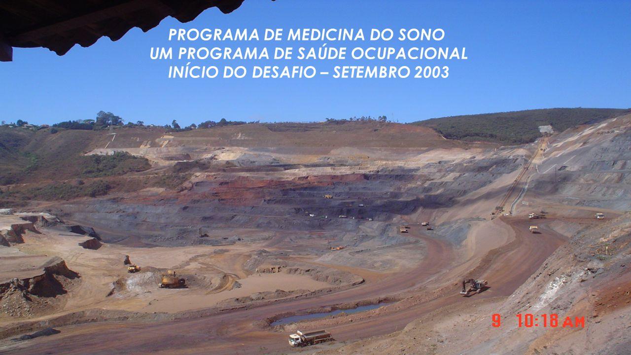 PROGRAMA DE MEDICINA DO SONO UM PROGRAMA DE SAÚDE OCUPACIONAL INÍCIO DO DESAFIO – SETEMBRO 2003
