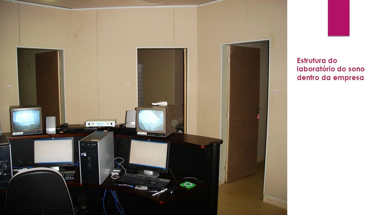 Estrutura do laboratório do sono dentro da empresa