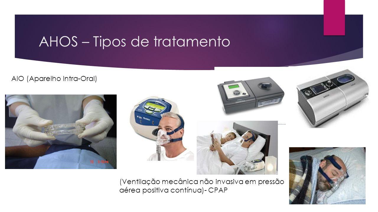 AHOS – Tipos de tratamento AIO (Aparelho Intra-Oral) (Ventilação mecânica não invasiva em pressão aérea positiva contínua)- CPAP
