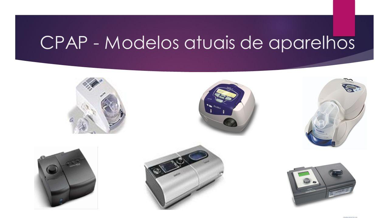 CPAP - Modelos atuais de aparelhos