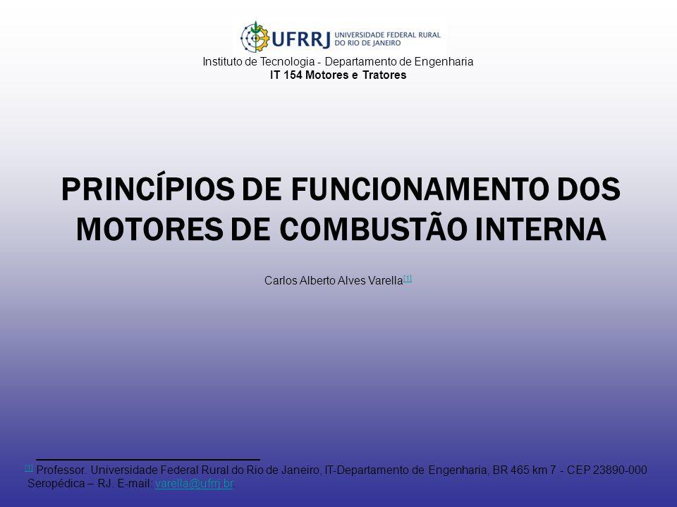 PRINCÍPIOS DE FUNCIONAMENTO DOS MOTORES DE COMBUSTÃO INTERNA Instituto de Tecnologia - Departamento de Engenharia IT 154 Motores e Tratores Carlos Alb