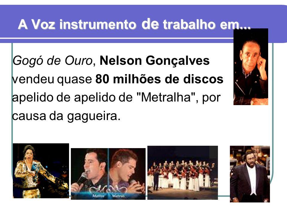 Gogó de Ouro, Nelson Gonçalves vendeu quase 80 milhões de discos apelido de apelido de Metralha , por causa da gagueira.