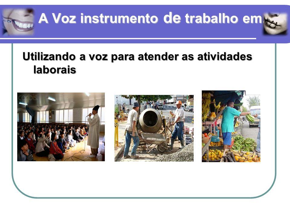 A Voz instrumento de trabalho em... Utilizando a voz para atender as atividades laborais