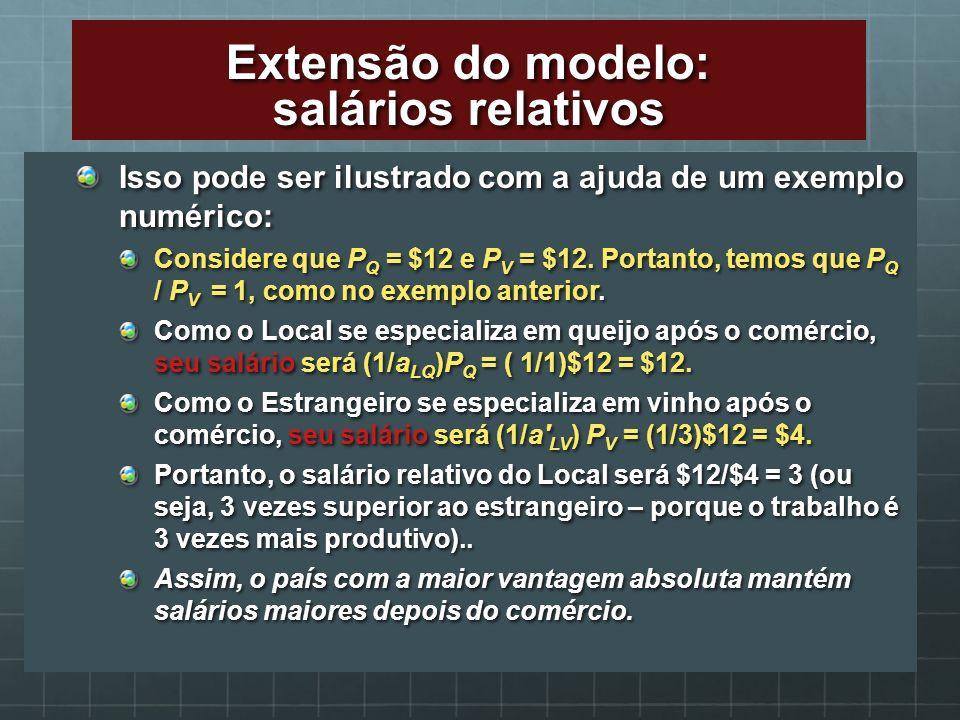 Isso pode ser ilustrado com a ajuda de um exemplo numérico: Considere que P Q = $12 e P V = $12. Portanto, temos que P Q / P V = 1, como no exemplo an