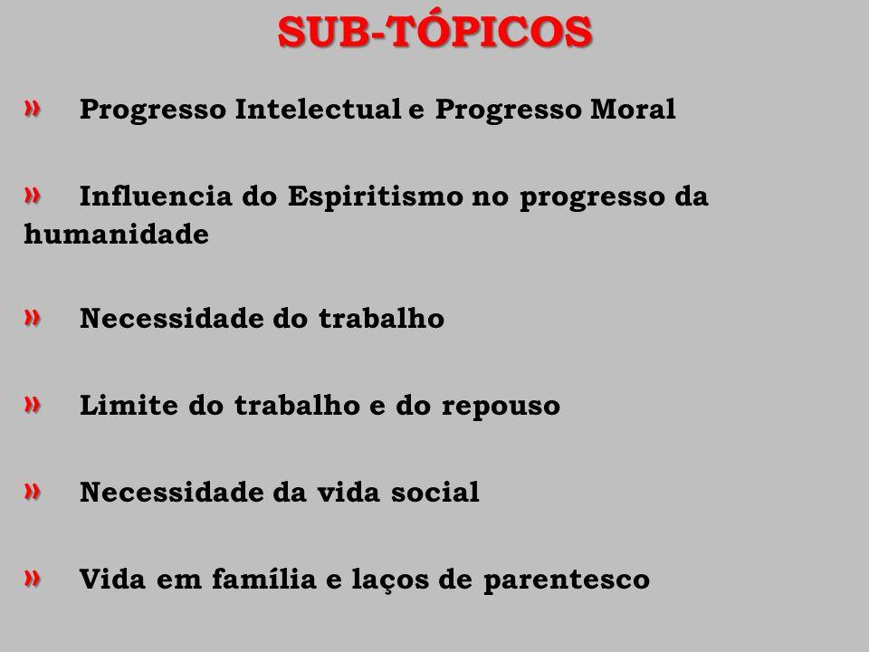SUB-TÓPICOS » » Progresso Intelectual e Progresso Moral » » Influencia do Espiritismo no progresso da humanidade » » Necessidade do trabalho » » Limit