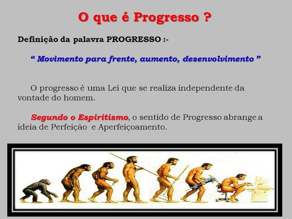 O que é Progresso ? Definição da palavra PROGRESSO :- Movimento para frente, aumento, desenvolvimento Movimento para frente, aumento, desenvolvimento