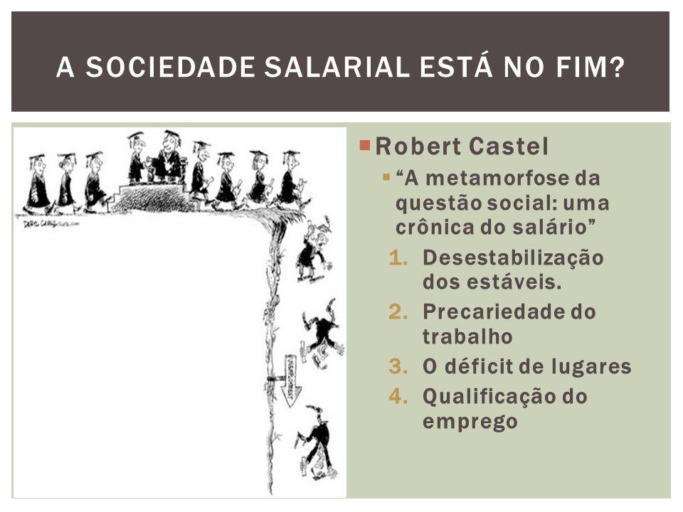 Robert Castel A metamorfose da questão social: uma crônica do salário 1.Desestabilização dos estáveis. 2.Precariedade do trabalho 3.O déficit de lugar