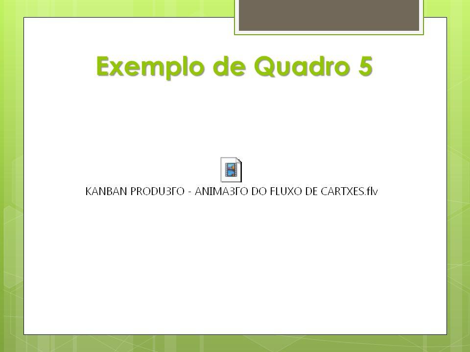 Exemplo de Quadro 5