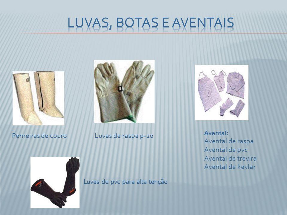 Avental: Avental de raspa Avental de pvc Avental de trevira Avental de kevlar Luvas de raspa p-20Perneiras de couro Luvas de pvc para alta tenção