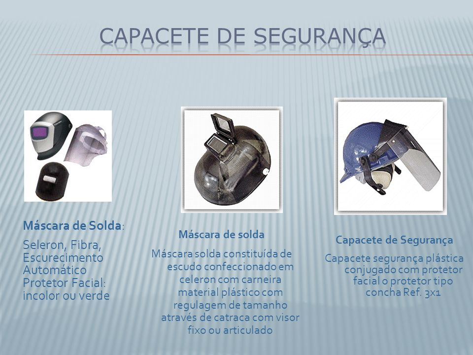 Capacete de Segurança Capacete segurança plástica conjugado com protetor facial o protetor tipo concha Ref. 3x1 Máscara de solda Máscara solda constit