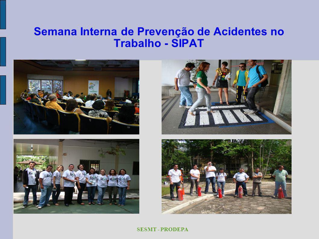 Semana Interna de Prevenção de Acidentes no Trabalho - SIPAT SESMT - PRODEPA
