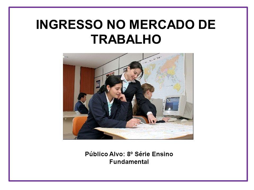 INGRESSO NO MERCADO DE TRABALHO Público Alvo: 8º Série Ensino Fundamental
