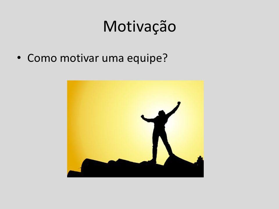 Motivação Como motivar uma equipe?