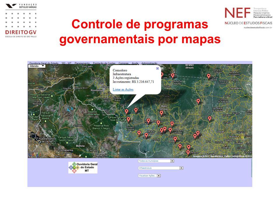 Controle de programas governamentais por mapas